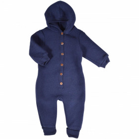 Overall Mikk-line cu gluga fleece lână merinos - Blue Nights
