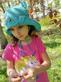 Pălărie ajustabilă ManyMonths Teddy Bear cânepă și bumbac - Seafoam Green