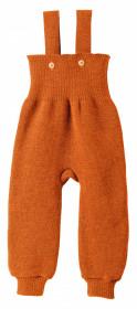 Pantaloni cu bretele lână merinos Disana - Orange