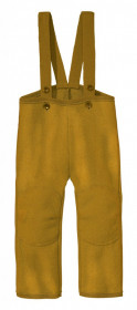 Pantaloni din lână fiartă Disana - Gold