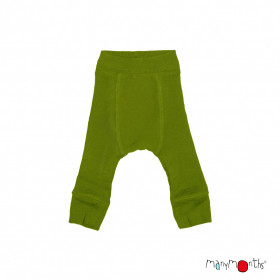 Pantaloni dublați Manymonths lână merinos - Garden Moss Green