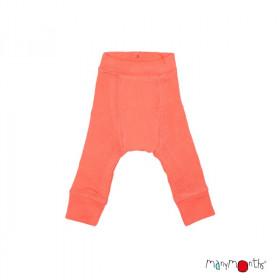 Pantaloni dublati Manymonths lână merinos - Precious Coral