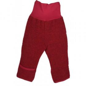 Pantaloni lână merinos fleece Iobio - Cassis