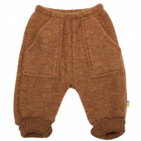 Pantaloni lână merinos fleece Joha - Basic Caramel Melange