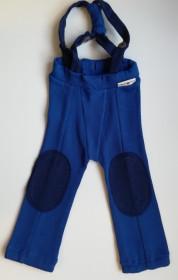 Pantaloni ManyMonths Hazel lână merinos - Jewel Blue, 3-12/18 luni