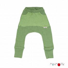 Pantaloni ManyMonths Kangaroo lână merinos - Jade Green