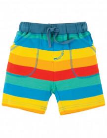 Pantaloni scurti din bumbac organic- Multi Rainbow Stripe, Frugi