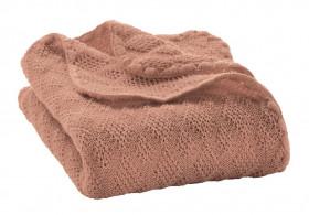 Patura bebelusi din lână merinos tricotata Disana - Rose