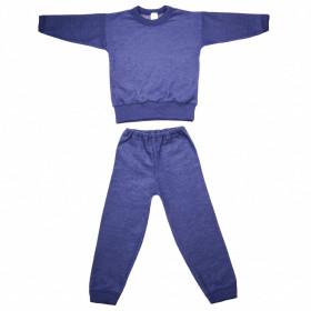 Pijama/Homewear Cosilana lână merinos terry - Marine Melange