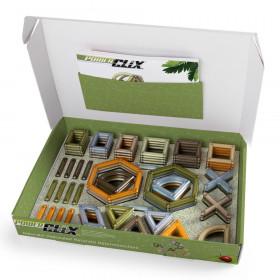 PowerClix Natural Frames, 74 piese, Guidecraft