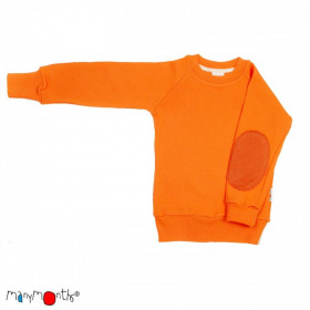 Pulover ManyMonths lână merinos - Festive Orange, 5-7/7,5 ani
