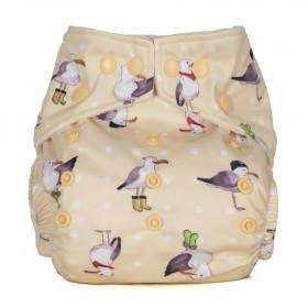 Scutec textil refolosibil cu buzunar Baba+Boo Seagulls