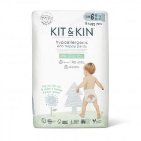Scutece-chilotel Hipoalergenice Eco Kit&Kin Pull Up Junior, Marimea 6, 15 kg+, 18 buc