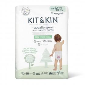 Scutece-chilotel Hipoalergenice Eco Kit&Kin Pull Up Maxi, Marimea 4, 9-15 kg, 22 buc