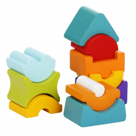 Set constructii, Turn 11 piese - Jucarie din lemn, Cubika