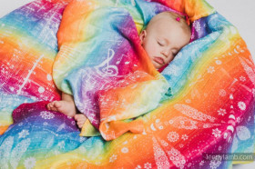 Swaddle Wrap Lennylamb, Symphony Rainbow Light