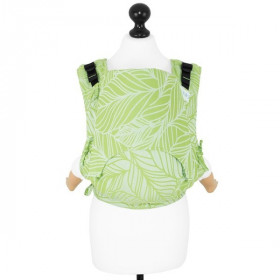 Toddler Size: Fidella Fusion 2.0 Full Wrap Conversion DANCING LEAVES -SPRING HAZE