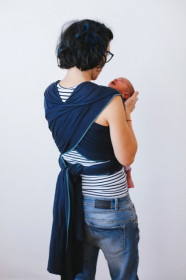 Wrap elastic uni S / M/ L, Poarta-ma, Bleumarine