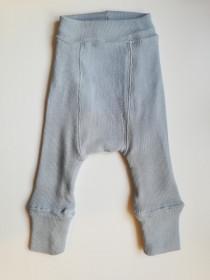 Pantaloni dublati Manymonths lână merinos - Bright Silver
