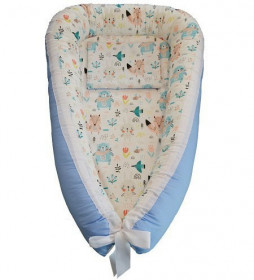 Baby Nests din bumbac - Blue Bears
