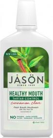 Apa de gura Healthy Mouth cu tea-tree si scortisoara pt gingiile iritate, Jason, 473 ml