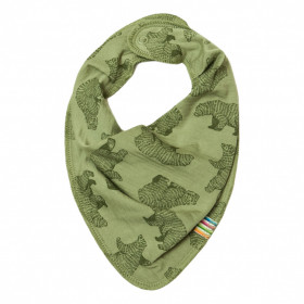 Bavețică/eșarfădin lână merinos Joha - Bear Green