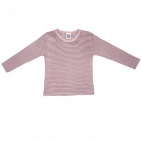 Bluza Cosilana lână merinos si mătase - Rose Grey
