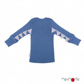 Bluză ManyMonths Dino lână merinos - Cosmos Blue
