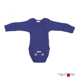 Body/Bluza (2 in 1) ManyMonths lână merinos - Night Sky