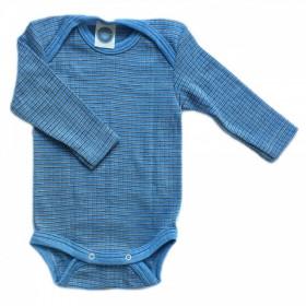 Body Cosilana din lână merinos, mătase și bumbac -Blue Melange