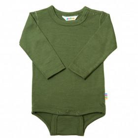 Body din lână merinos Joha - Single Wool Green