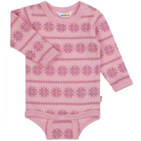 Body Joha din lână merinos -Snowflake Pink, marimea 60