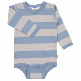 Body Joha din lână merinos - Wide Stripe Blue/Grey