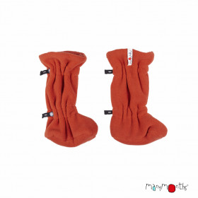 Botosei ajustabili ManyMonths Winter Booties pt babywearing - Rooibos Red/Rooibos Red