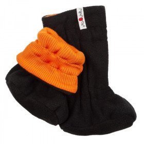 Botosei ManyMonths Winter Booties pt babywearing - Festive Orange/Black