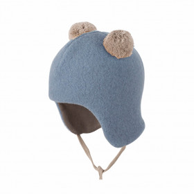 Caciulă Pure Pure din lână merinos fleece - Dusty Blue