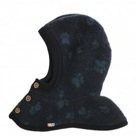 Cagula dublata Joha lână merinos fleece - Footprint Navy
