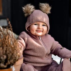Cagulă lână merinos fleece Mikk-line - Burlwood