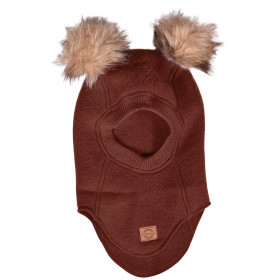 Cagulă lână merinos fleece Mikk-line - Madder Brown