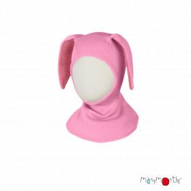 Cagulă ManyMonths lână merinos - Bunny Stork Pink
