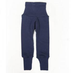 Cei mai comozi pantaloni Cosilana din lână merinos si mătase - Albastru