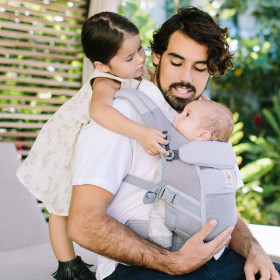 ERGOBABY Carrier Original Adapt PERFORMANCE COOL AIR MESH PEARL GREY  0 luni+ (editie speciala)