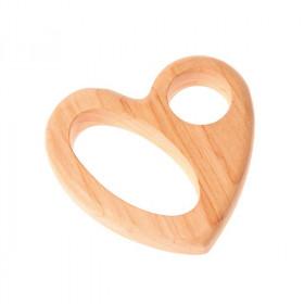 Jucarie inimioara din lemn pentru bebelusi - Grimm's Spiel und Holz Design.