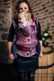 Lenny Lamb Full Wrap Conversion Baby Size , BUBO OWLS - LOST IN BORDEAUX