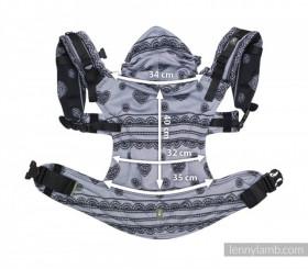 LennyLamb Baby Size, Full Wrap Conversion - SYMPHONY RAINBOW DARK
