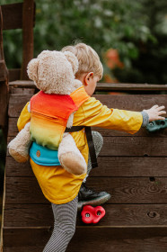 Marsupiu de jucarie pentru copii, Lennylamb, Rainbow Baby