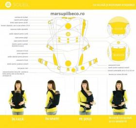 Marsupiu ergonomic,Beco Soleil,Sloth Orange