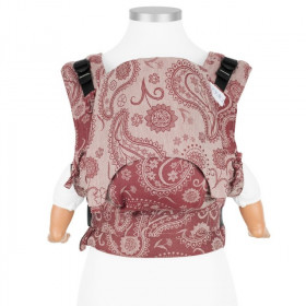 Marsupiu Ergonomic, Fidella Fusion Baby Wrap Conversion, Persian Paisley- Ruby Red