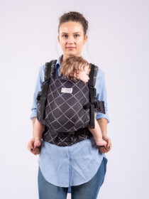 Marsupiu Ergonomic, ISARA The Trendsetter, Standard, Diamonda Black Denim
