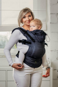 Marsupiu Ergonomic,Lenny Lamb Baby Size,  JEANS Full Wrap Conversion